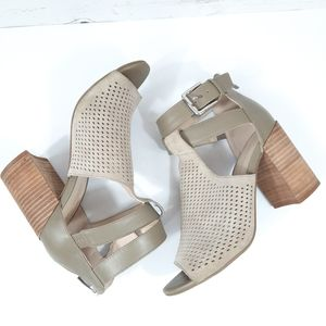 Marc Fisher Gabie Perforated Leather Cut Out Heel